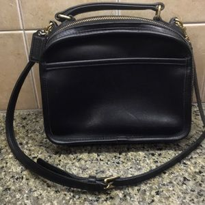 Vintage coach leather square top handle bag